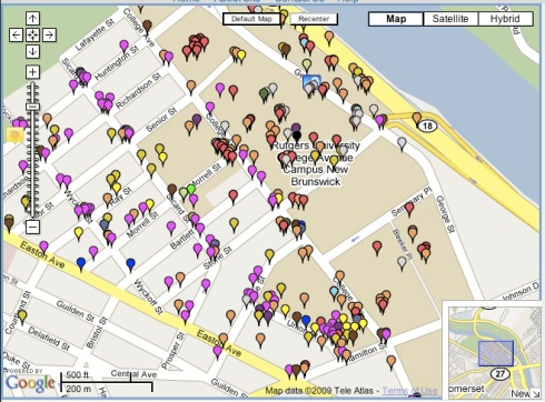 Rutgers University Students Create Campus Crime Map The Crime Map