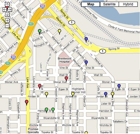 Map Of Shreveport